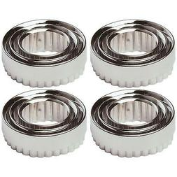 12 x Chef Aid Metal Pastry Cutters Homemade Cookies & Baking