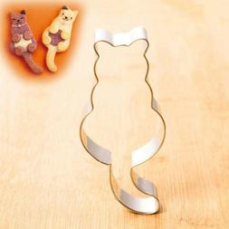 1PC Kitchen Bakeware Cat Shaped Stainless Steel Cookie Cutte