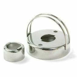 """Norpro 2.75"""" Stainless Steel Donut Biscuit Cookie Cutter w/"""