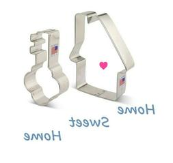 2pc House and Key Cookie Cutters, Home Sweet Home Baking Set
