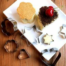 3 pcs Cookie cutters Heart or Flower or Star, Stainless Stee