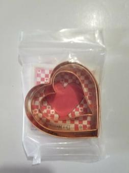 3pc Heart Copper Cookie Cutters By Ann Clark MADE IN THE USA
