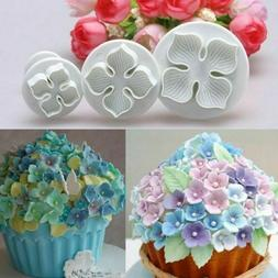 3pcs Hydrangea Cake Cutters Mould For Cookie Baking Decorati