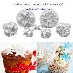 3pcs Snowflake Cake Cutters Mould For Cookie Baking Decorati