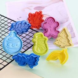 4pcs Pastry Wheel Roll and Decorating Plunger Cookie Biscuit