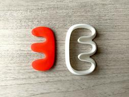 Abstract E Shape 2 Cookie Cutter Fondant Jewelry Clay Earrin