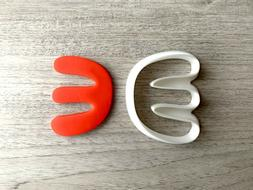 Abstract E Shape Cookie Cutter Fondant Jewelry Mini Clay Ear