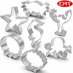 ANPOPO Under The Sea Cookie Cutter Set - 7 Piece - Seashell,