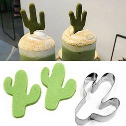 AU_ FP- Durable Cactus Cookie Cutter Biscuit Cake Baking Mol