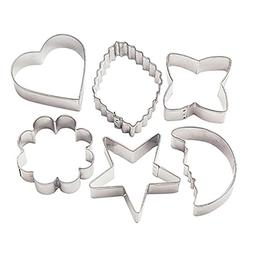 Basic Shapes Metal Cookie Cutters - 6 Ct