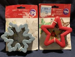 Wilton Comfort Grip Cookie Cutters Lot Of 2 Snowflake/ Star