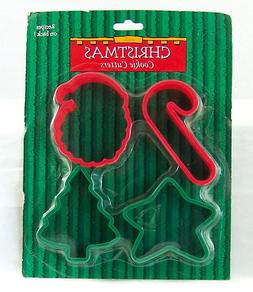 Cookie Cutters 4 Plastic Holiday Xmas Star Tree Santa Candy