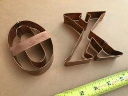 COPPER COOKIE CUTTERS -  X's & O's Hugs and Kisses Copper Co