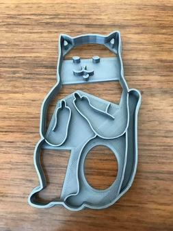 Deluxe Cat Middle Finger Cookie Cutter - Fondant Cutter- Bye