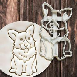 Dog Shaped Biscuit Cookie Cutters Mold Baking Kitchenware DI