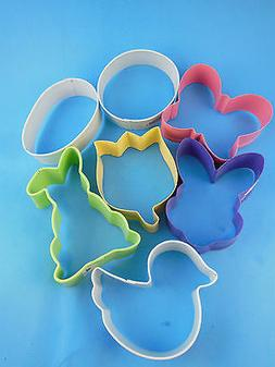 Wilton Easter Cookie Cutters Metal Set of Seven 7 Pastel Flo