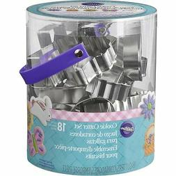 Wilton EASTER METAL COOKIE CUTTER TUB SET of 18 Pastry Cutte