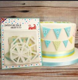 FMM EASY BUNTING CUTTERS Icing Sugarcraft Cake Cupcake Decor