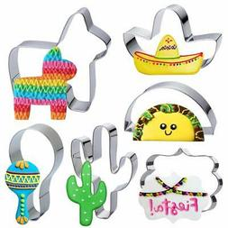 Fiesta Mexican Cookie Cutter Set - 6 Pieces 4in Large Donkey