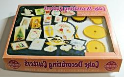JEM Four 17 Set SMALL PLAQUES & Design Cutters Icing Sugarcr