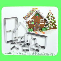 Gingerbread House Cookie Cutters 7 Pcs