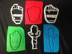 Guardians of the Galaxy Baby, Kid, Adult Groot outline cooki