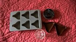 Hershey's Assortment Silicone Mold and Cookie Cutters Very G