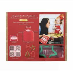 Kate &Milo Deluxe Holiday Cookie Baking Set Adult Child Apro
