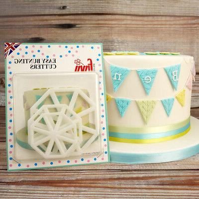 easy bunting cutters icing sugarcraft cake cupcake