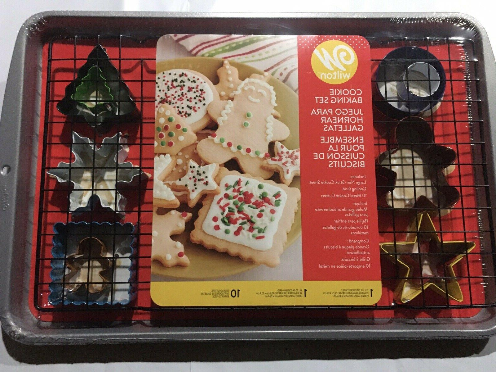 large non stick cookie sheet with 10