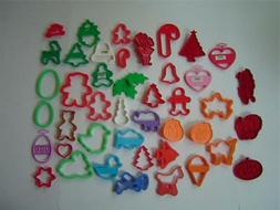 LARGE Lot of 40+ Plastic Cookie Cutters~Holiday~Wilton~Tuppe