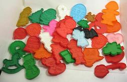 Lot/36 Hallmark Cookie Cutters Plastic with Handles All Diff