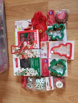Lot of 12 Baking Cupcake and Cookie Cutters, including Wilto