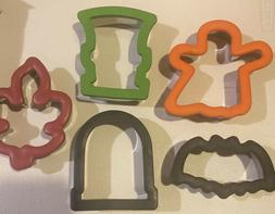 Lot of 5 Halloween Fall Wilton Comfort-Grip Cookie Cutters G