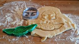 Mandalorian and Baby Yoda Cookie Cutters