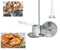 METAL 3D MUSHROOM MOLD FORM FORMS FOR SWEET BRUSHWOOD PASTRY