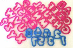 NEW Plastic Cookie Cutters Set-  26 Uppercase Alphabet 1-? &