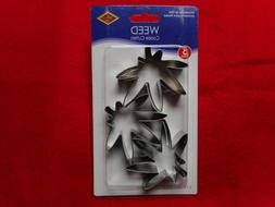 """NEW Set of 3 """"Weed"""" Cookie Cutters from Beistle"""