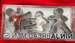 Fred Ninjabread Men Cookie Cutters Set of 3 Different Pose A