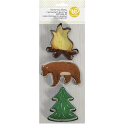 Wilton Painted Metal Cookie Cutter Set Camping Camp Fire Bea