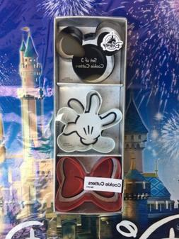 Disney Parks Cookie Cutters Set Mickey Mouse Ears Minnie Bow