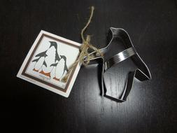 Ann Clark Penguin Shaped Cookie Cutter with Instructions and