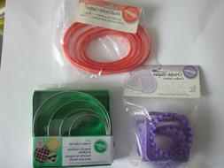 Wilton plastic cookie cutters shapes - circles - ovals - sca