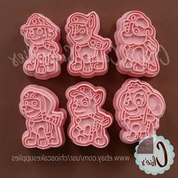 Pup Patrol Cookie Cutters with Stamp, 12 pieces set.