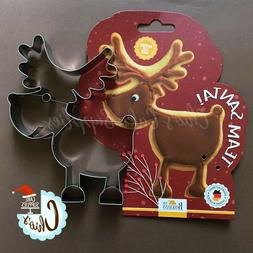 Rudolph the Reindeer XL Stainless Steel Cookie Cutter. By BI