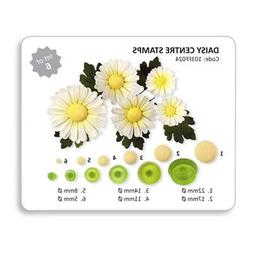 JEM Set of 6 DAISY CENTRE STAMPS Flower Plastic Icing Cut Ou