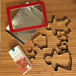 Chicago Metallic Set of 6 Gingerbread Family Cookie Cutter I