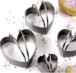 Stackable Biscuit Cutters, Heart shaped, set of 4