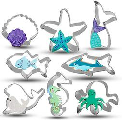 Under the Sea Creatures Cookie Cutter Set 8 Piece Stainless