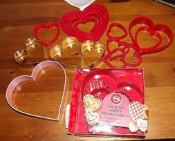 Valentines Cookie cutters lot of 18 Wilton others